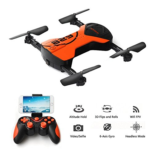 Koeoep Mini Pocket Selfie Drone Air Pressure Altitude Hold Quadcopter Photography Wifi FPV With 0.3MP Camera Phone Control Helicopter