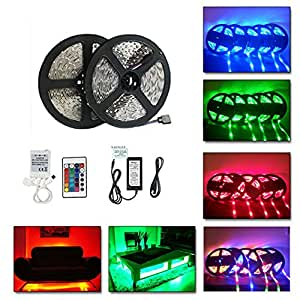 minger led band 10m 2x5m rgb 3528 smd 60 leds m led. Black Bedroom Furniture Sets. Home Design Ideas