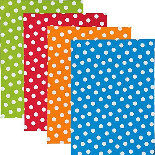 Erwin Müller Geschirrtuch - 4er-Pack - Geschirrtücher - 4er-Set - saugstark - strapazierfähig - 100{6adf3c5d85eb5dcdf5fbe61b2bc2c08e1448073265d2df572119eec32199bfe2} Baumwolle - grün - rot - orange - blau - Größe 50x70 cm