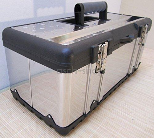 Preisvergleich Produktbild Werkzeugkiste Materialbox EDELSTAHL Type 302XXL 58x30x26 cm von AS-S