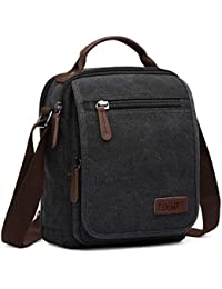 LOSMILE Bolsos Bandolera Hombre Pequeñas Bolsos de mano Bolsa de Hombro Messenger Bag Bolsa de Lona para iPad mini Escolares Sport Casual