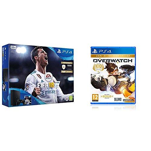 0711719911661 - Sony PlayStation 4 500GB Console - Black - FIFA 18
