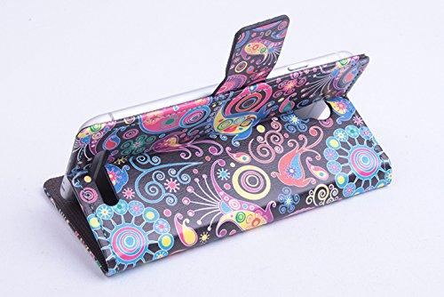 Baiwei Pu Leder Kunstleder Flip Cover Tasche Handyhülle Case Mit Halterung und Karte Slot für JIAYU S3 S 3 Tasche Hülle Case Handytasche Handyhülle Etui (Mode 5)