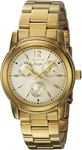 Invicta 21691 Angel Reloj para Mujer acero inoxidable Cuarzo Esfera oro