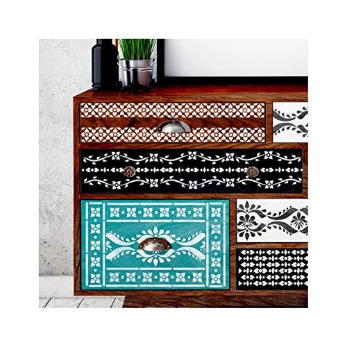 SATARA Indische Einlegearbeit Satz von 5 Wand Möbel Fußboden Schablone für Malerei