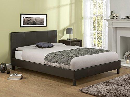 Snuggle Beds Manhattan Brown 5' King Size Bed Frame Dark Brown