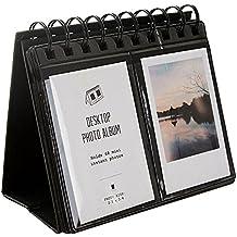 Álbum para 68 fotos para escritorio, tamaño mini para películas de Fujifilm Instax Mini 8,7s, 25,50s, 90,tarjeta de visita, color azul, de la marca Urvoix