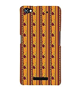 PrintVisa Designer Back Case Cover for Micromax CanvasHue2A316 (Girly Pattern Tribal Floral Fabric Culture Rajastan Andhra)