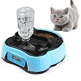 Sailnovo Futterautomat, Automatischer Futterspender für Katze und Hund, Pet Feeder mit Timer, LCD Bildschirm und Ton-Aufnahmefunktion, 4 Liter (Futter und Wasserspender)