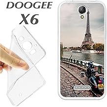 J211 DOOGEE X6 CARCASA FUNDA TPU VESPA EN PARIS ROMANTICA BONITA