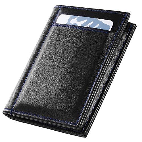 bd3855baec Portafoglio Uomo piccolo con protezione RFID Whimsroom. Con Porta Documenti  e Porta Carte di credito