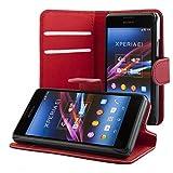 ECENCE Sony Xperia E1 Custodia a Portafoglio Protettiva Wallet Case Cover 41040203