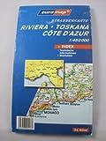 Strassenkarte Riviera-Toskana-Côte d'Azur 1:450000 -