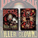 Mazzo di carte Bicycle - Killer Clowns - Mazzi Bicycle - Carte da gioco - Giochi di Prestigio e Magia