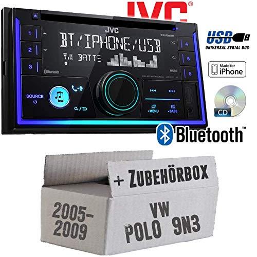 VW Polo 9N3 - Autoradio Radio JVC KW-R930BT - CD Bluetooth Android Apple MP3 USB - Einbauzubehör - Einbauset