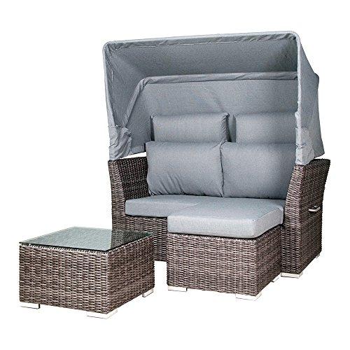 Preisvergleich Produktbild Zebra Jack Lounge Junior Basis-Set, inkl. Kissen & Abdeckhaube, Lieferung ohne Rückenkissenbezüge, taupe