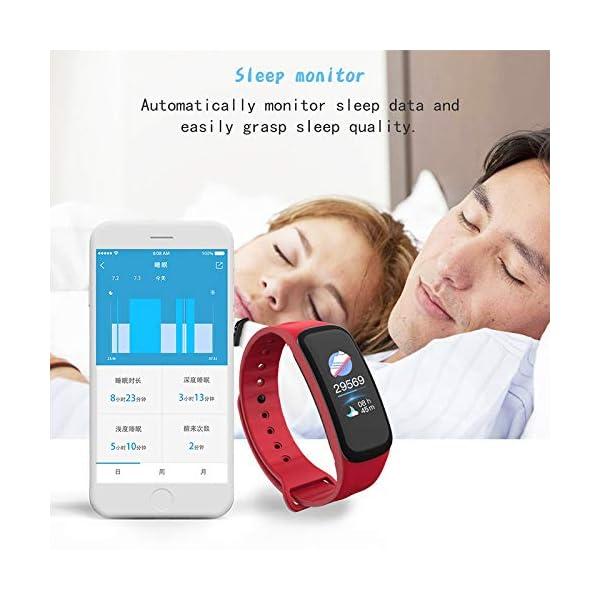 VEVICE - Pulsera de actividad, con control de ritmo cardíaco, contador de pasos, rastreador de actividad inteligente… 5