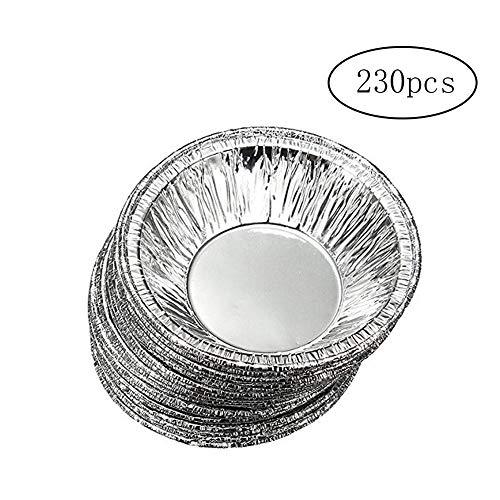 Aluminium Foil Torte Pfannen Kuchen Keks Pudding Egg Tart ausgekleidete Form Fill Mince Pie Pfannen oder Custard Tart Foil Hüllen ()