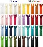 39 cerniere, 16 cm, colori assortiti