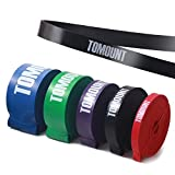 Tomount Fitnessband Resistance Band Fitnessbänder Rubber Band für Krafttraining/Muskelaufbau/Klimmzug/Home Gyms in 5 Stärken