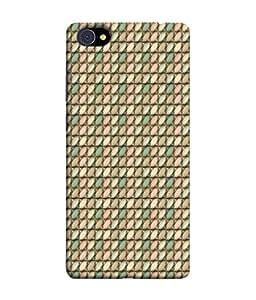 PrintVisa Designer Back Case Cover for Vivo X5Pro :: VivoX5Pro (Matty Box Round Design Texture Matefinish Green)