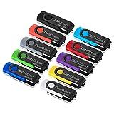 10 Pezzi DataOcean Pendrive 16GB Chiavetta USB 2.0 girevole per archiviazione dati 10 X 16GB in multiple colors 16 Gb