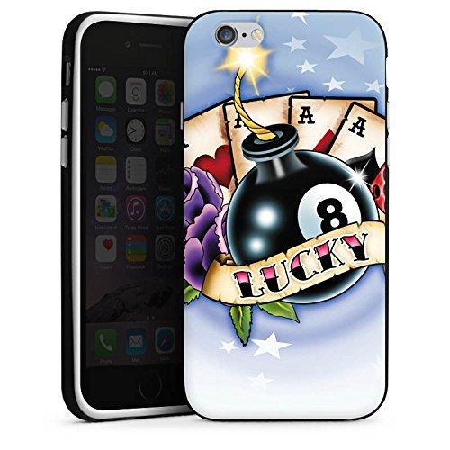 Apple iPhone X Silikon Hülle Case Schutzhülle Karten Glück Würfel Silikon Case schwarz / weiß
