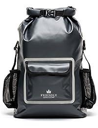 The Friendly Swede wasserdichter Rucksack - Outdoor Dry Bag, Fahrradrucksack, Laptop Rucksack, Multifunktionsrucksack mit Rollverschluss (33L)