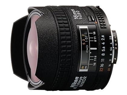 Nikon AF Fisheye Nikkor D 16mm F2.8 - Objetivo con montura para Nikon (distancia focal fija 16mm, apertura f/2.8)