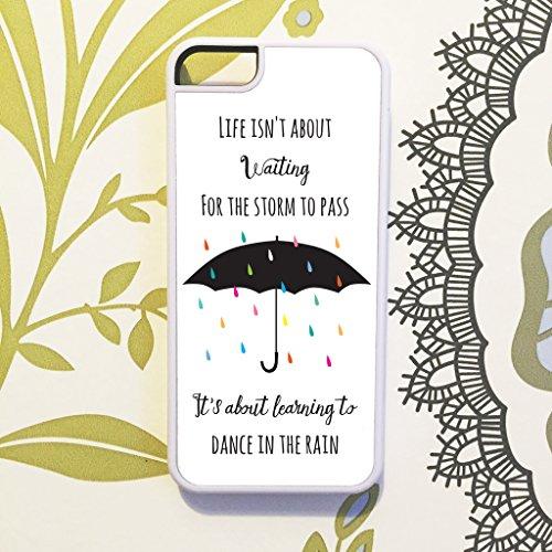 Preisvergleich Produktbild Olive & Maybelle vie Waiting Storm Pass danse parapluie Citation Anglais Téléphone Coque pour iPhone 6et 6S (11,9cm)–en blanc