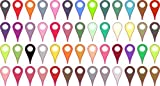 [52X] Assorted Colors Map Pointer Stickers Vinyl Point Marker Globe Decal by StickerTalk®