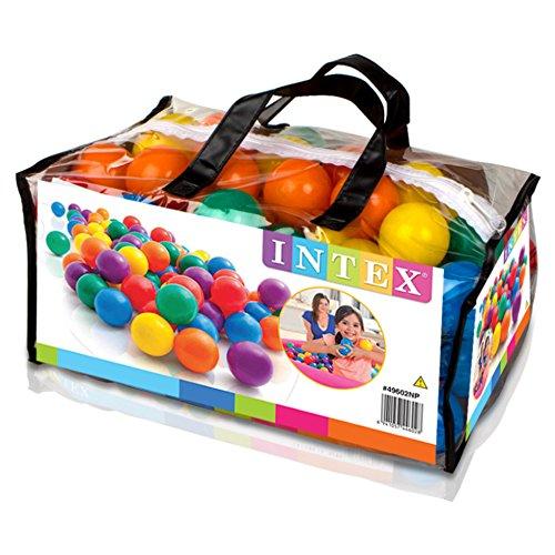 INTEX - Pack 100 bolas diámetro 6,5 cm + 2 años (49602)