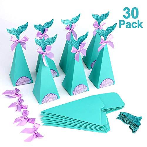 Howaf Lot 30 Sirena Regalo Cajas, DIY Manualidades Cajas para Infantiles niños...