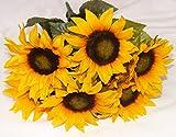 Beautiful Artificial Sunflower Bush with 7 Heads / 4