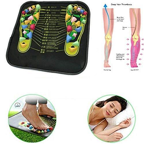 LOVEQIZI Fußmassagematte Fußstein Entspannender Druck Muskelschmerzen Lindern Fußmassagematte Gesundheitswesen Akupressur-Pad Massageador, Gehen, Yoga Massage