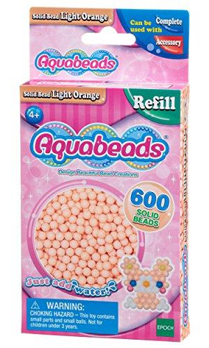 Aquabeads- Solid Beads, Color Naranja Claro (Epoch para Imaginar 32618)