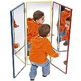 HenBea Triptychon Spiegel, Kunststoff, Silber, 3-teilig