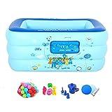 Neilyn PVC Grün Baby Aufblasbare Große Schwimmbad Haushalt Kinder Badewanne Baby Spielzeug Indoor und Outdoor Aufblasbare Pool Angeln Pool Tragbare Aufblasbare Badewanne (130 * 55 * 90 cm)