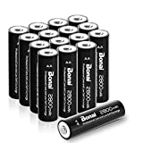 Bonai Wiederaufladbare Batterien AA 2800mAh NI-MH Akkus Hohe Kapazität (16 Stück)