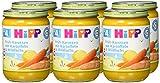 Hipp Früh-Karotten mit Kartoffeln und Wildlachs, 6er Pack (6 x 190 g) - 2