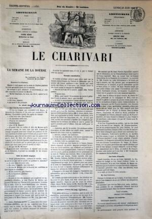 CHARIVARI (LE) du 29/06/1868 - LA SEMAINE DE LA BOURSE