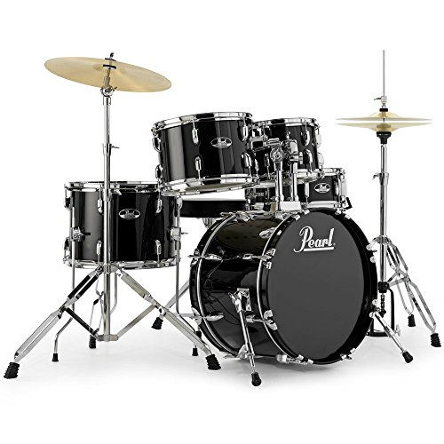 "Pearl Roadshow 18"" Micro Sizes Drum Kit with Hardware & 2 Cymbals - Black"