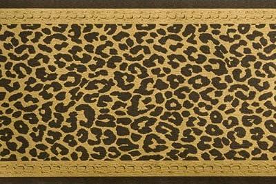 Bordüre -Leopard- Schwarz / Gold von Tapetenkontor auf TapetenShop