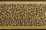Bordüre -Leopard- Schwarz / Gold