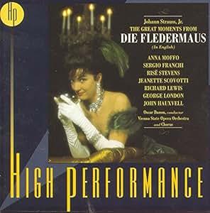High Performance - Die Fledermaus (Great Moments From) (englisch ) (Aufnahme Wien 1963)