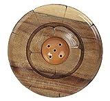 #8: Auroshikha Wooden Incense Stick Holder (7 cm x 1 cm x 7 cm,colour may vary )