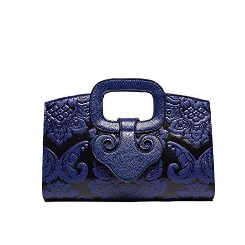 Chinesische Winddruck Handtasche Umhängetasche Diagonale Paket Handtasche Freizeit Mode Wild Blue