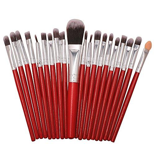Pinceaux Maquillage,Ensemble De 20 Pinceaux pour Le Maquillage, Ensemble De Toilette, Trousse De Toilette en Laine, Ensemble pour Pinceau à Maquillage Poils Synthetiques Doux Et sans Cruauté