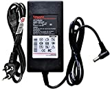 LAPJII Adapter Charger Supply for 12V 5AMP for CCTV DVR-60W Pin-5.5x2.5 with Power Cord