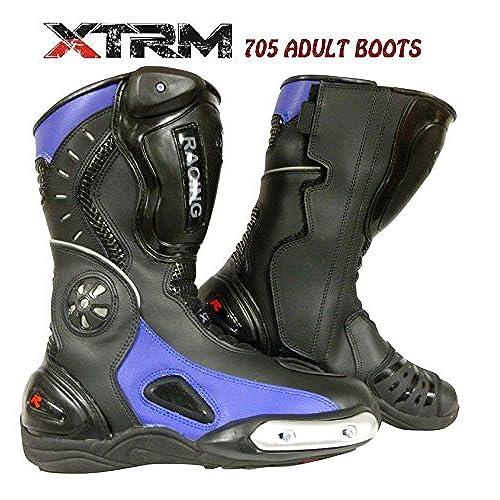 XTRM-CORE Stivali da moto Stivali da corsa Motocicletta Scooter Strada Stivali Sportivi (NERO, EU 39/UK 5)